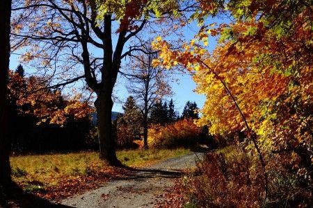 Szklarska Poręba, Jesień niedaleko Villa Grace
