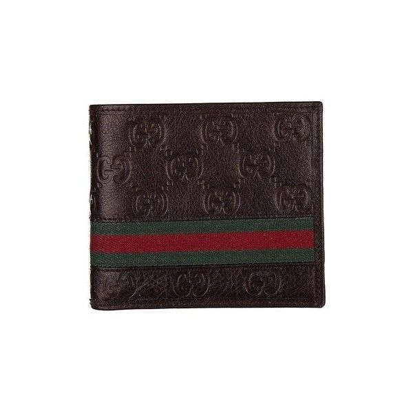 Gucci - Men's Leather Wallet GUCCISSIMA MARGAUX Purse wallet ($370) ❤ liked on Polyvore featuring men's fashion, men's bags, men's wallets, accessories, brown, purse wallet, mens leather wallets, gucci mens wallet, mens brown leather wallet and mens wallets