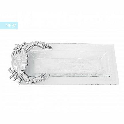 Arthur Court Crab Oblong Glass Tray