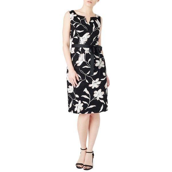 Precis Petite Clip Spot Dress, Multi ($130) ❤ liked on Polyvore featuring dresses, petite, floral maxi dress, shift dress, long-sleeve midi dresses, petite maxi dresses and maxi dresses