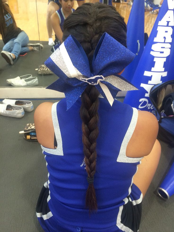Cheerleading hairstyle high school