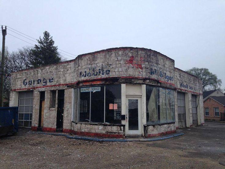 Old Detroit Michigan Mobile Gas Station Landscapes