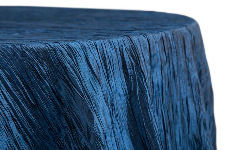 Accordion Crinkle Taffeta Tablecloth 132 Quot Navy Blue As