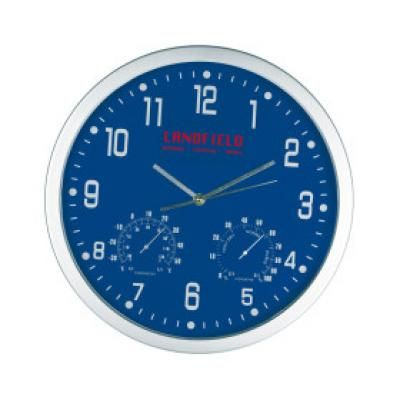 Image of Promotional Crisma Wall Clock In Blue. Printed Wall Clock Available In Various Colours.