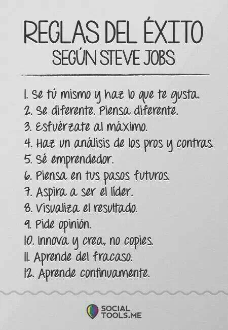 Reglas del Exito Steve Jobs