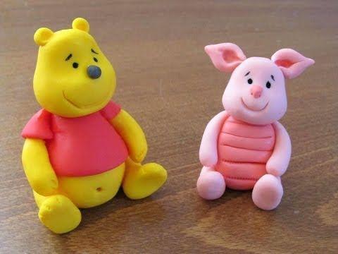 אנושקה - פו הדוב מבצק סוכר/Winnie the Pooh - fondant tutorial - YouTube