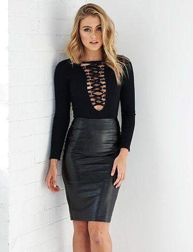 2623ec404 Leather Dresses, Black Leather Skirts, Black Midi Skirt, Sexy Skirt, Dress  Skirt