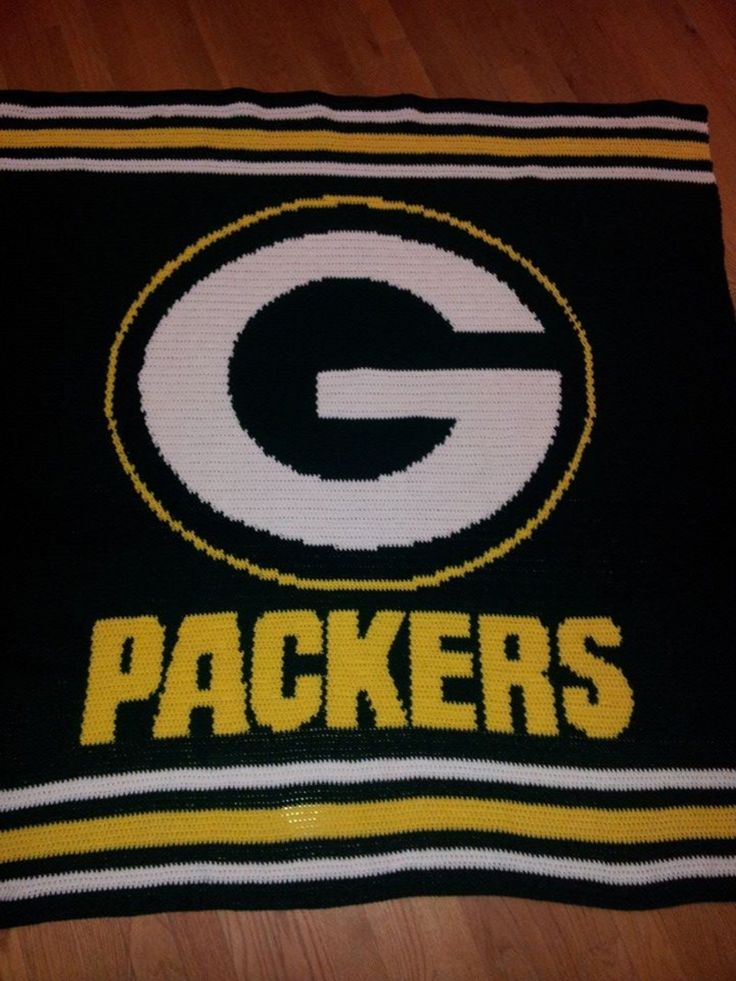 Crochet Pattern Green Bay Packer Afghan : 29 best images about craft on Pinterest Blanket crochet ...