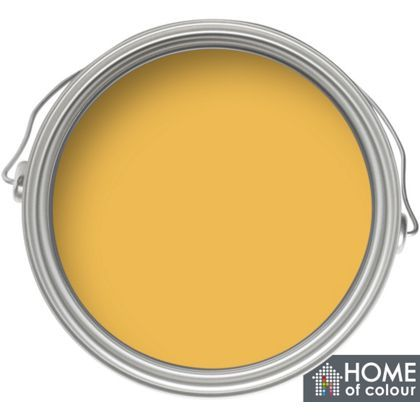 Home of Colour Yellow Submarine - Tough Matt Paint - We love this deep and indulgent yellow, contrasts perfectly with grey and blue tones