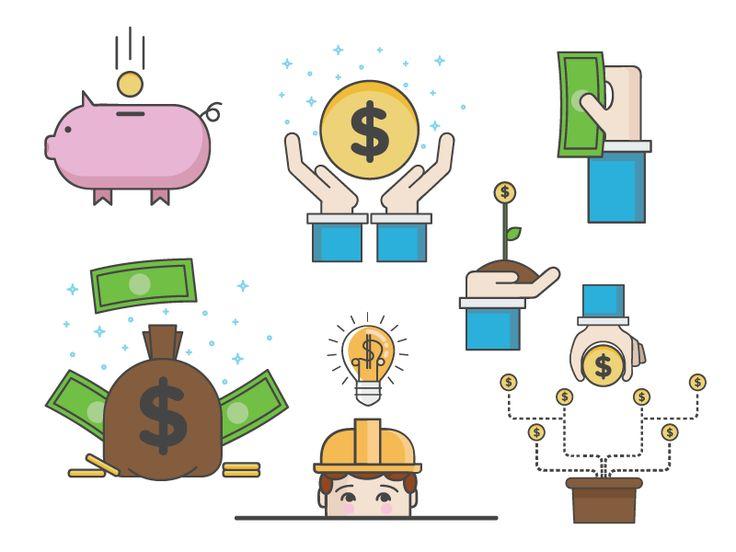 Money icons by Aine O'Hagan