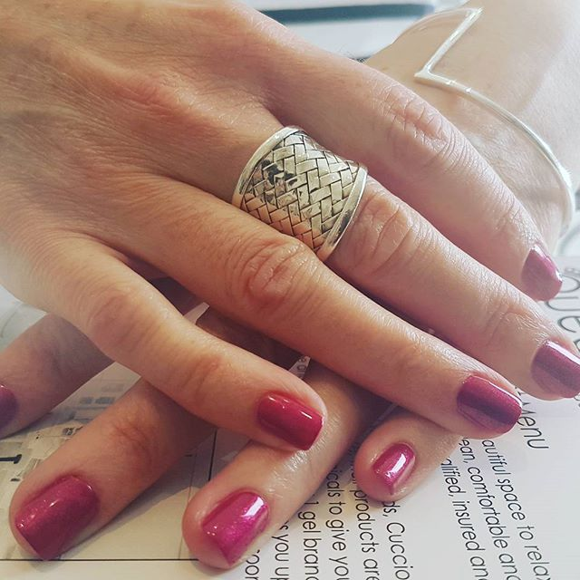 Donna got her nails did using the brand new colour from the Fables and Fairytales Collection A tale of two nails. Isn't is gorgeous? Treatment by Jodi! This week is nearly fully booked, please do not leave it until last minute  to avoid disappointment #croydon #london #nails #qbnails #love #gels #londonnails #makethemgelish