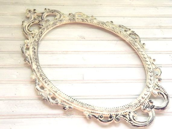 MBSb Large Ornate Picture Frame Oval Frame by LetaPearlEmporium