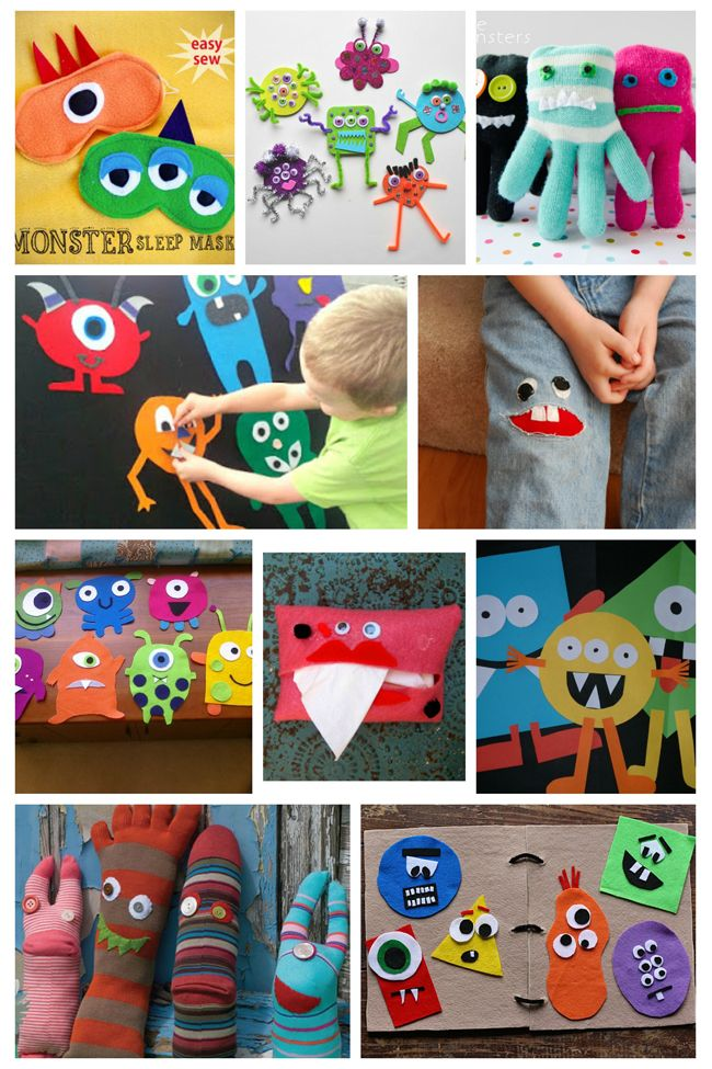 To create a banner for her son s birthday these glitter foam monsters
