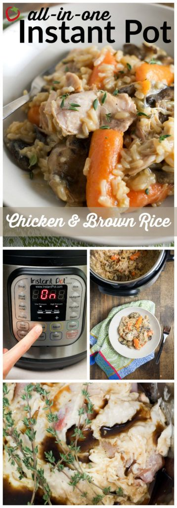 All-in-one Instant Pot Chicken and Brown Rice | Super Healthy Kids | Food and Drink; use GF Worcestershire sauce and homemade condensed soup reipe for gluten free -- SB