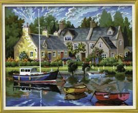Tranquil Waters Painting By Numbers | Hobbies The Masterpiece Senior range of painting by numbers are for the more experienced artist.  Contents: Pre-printed board, acrylic paints, brush and instruction sheet.  Size: 390mm x 300mm
