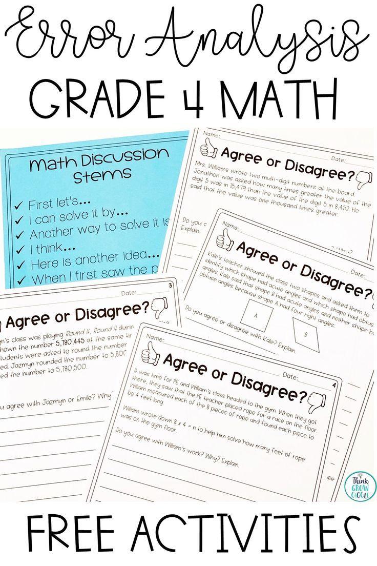 Error Analysis Error Analysis Math Math Errors Math School