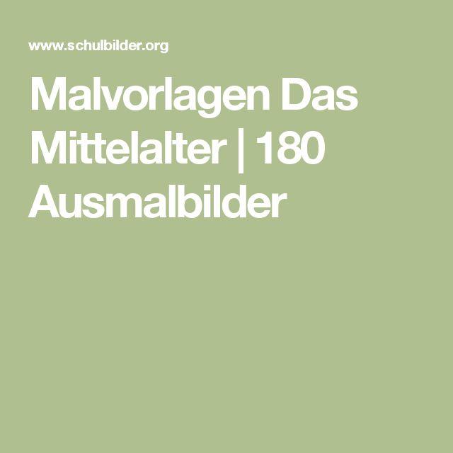 Malvorlagen Das Mittelalter | 180 Ausmalbilder