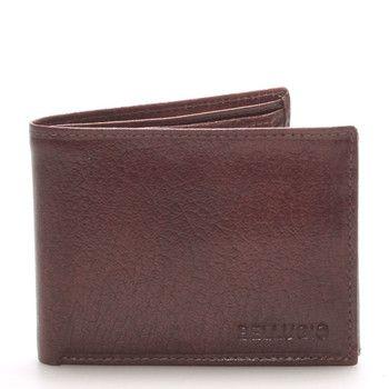#bellugio Kožená malá pánská hnědá peněženka BELLUGIO . Peněženka je praktická, z pravé kůže. Má kapsu na drobné na zip a další kapsičky na bankovky, doklady, či kreditní karty. Díky své praktičnosti a kvalitnímu zpracování Vám bude dlouho sloužit.