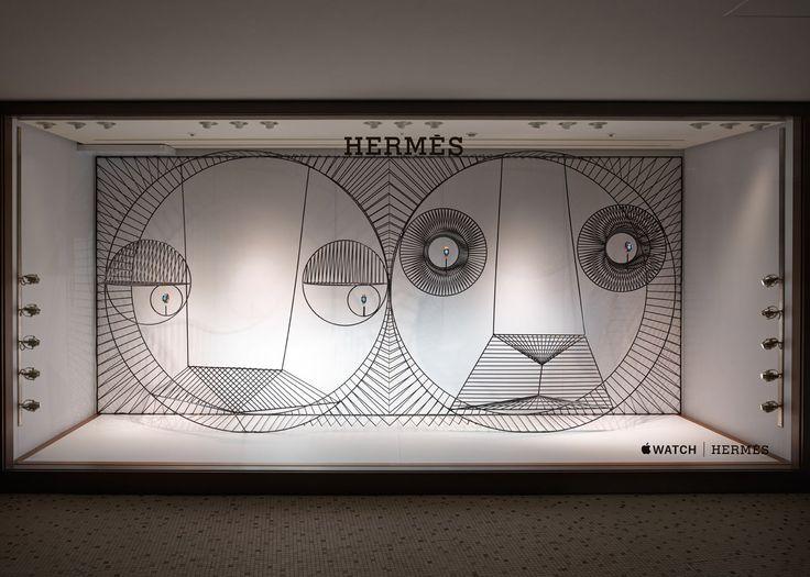 Danish studio GamFratesi created animals from metal wires for the Apple Watch Hermès window display in Japan.