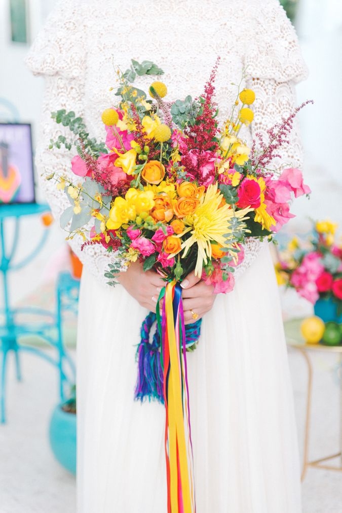 Bride Club ME Styled shoot, inspired by Frida Khalo and the bold hues of Mexico. Shot In Dubai.