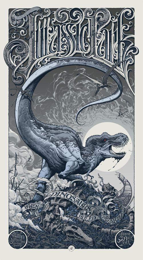 Jurassic Park by Aaron Horkey #Mondo
