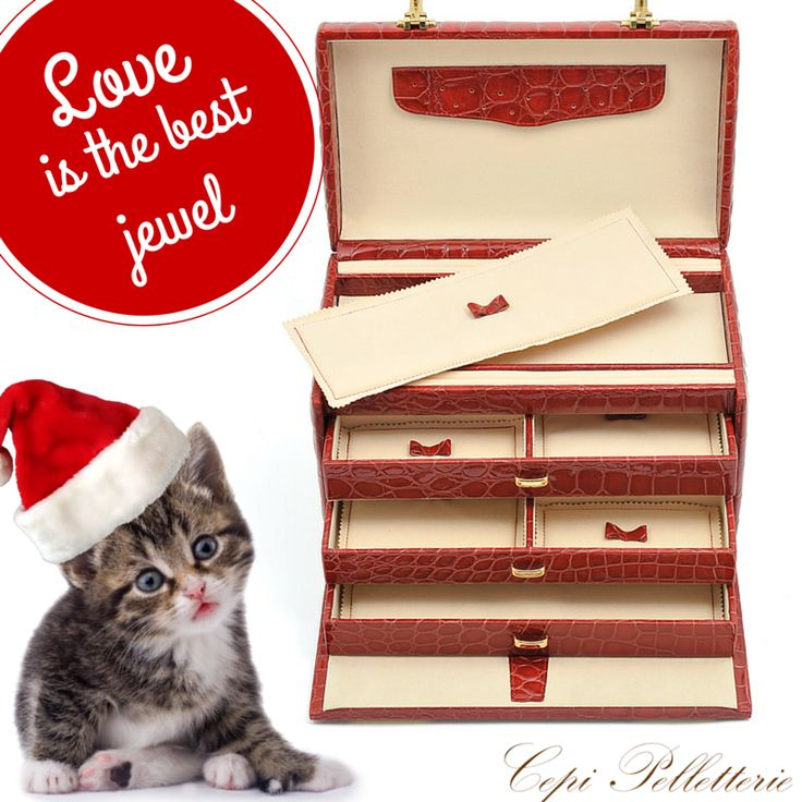 "Keep safe your ""love jewels""!   #Christmas #JewelBox #Leather #jewels #CepiPelletterie #gift"