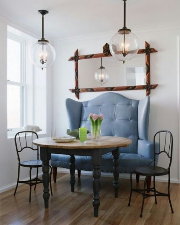 High Back Bench Dining AreaDining Room