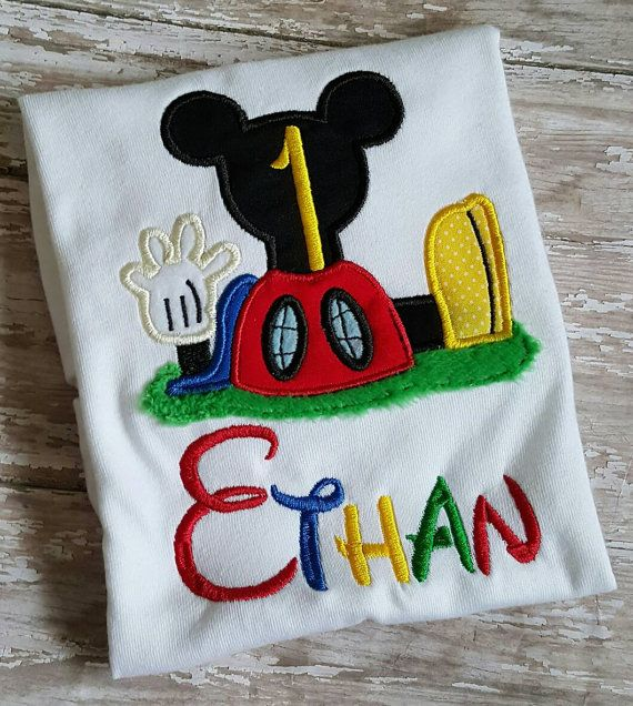 Mickey Mouse Clubhouse Birthday Shirt by BecksEmbroidery on Etsy