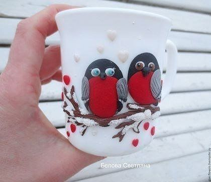 Decorating cups with polymer clay