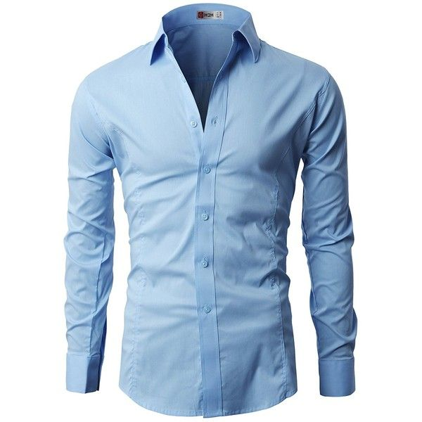 H2H Mens Classic Dress Slim Fit Shirts Breathable Long Sleeve of... ($20) ❤ liked on Polyvore featuring men's fashion, men's clothing, men's shirts, men's dress shirts, mens longsleeve shirts, mens slim fit shirts, mens dress shirts, mens long sleeve dress shirts and mens slim fit long sleeve t shirts