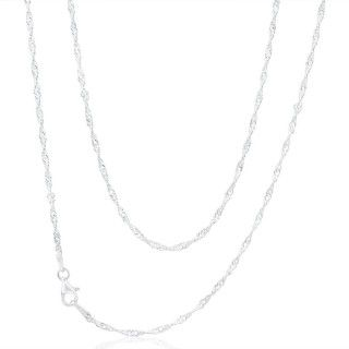Kallista Singapore Chain in Sterling Silver 45cm image-a