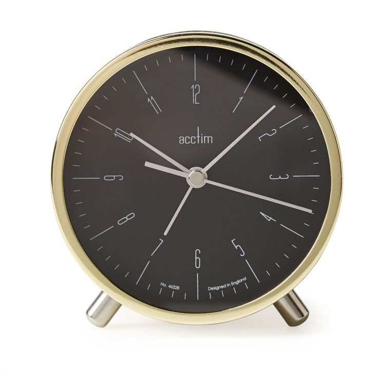 Acctim Evo Retro Gold Analogue Alarm Clock | Departments | DIY at B&Q