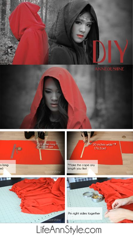 DIY Costume Cape (Little Red Riding Hood?) This cape is perfect for