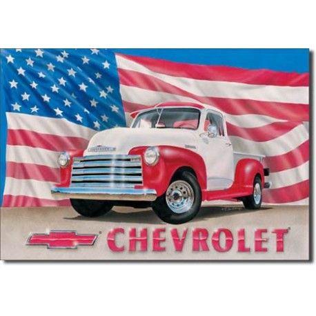 Plaque publicitaire Chevrolet pick up 1951