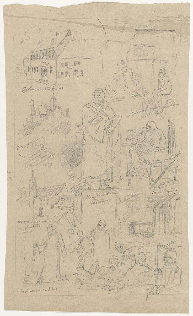 Johan Braakensiek | Ontwerp voor illustratie in De Amsterdammer: een zwarte man kruipt uit een ei (19 April 1930), Johan Braakensiek, 1930 | Ontwerp voor een prent.