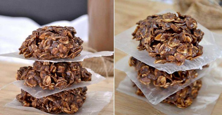 Recept na nepečené vločkové sušenky