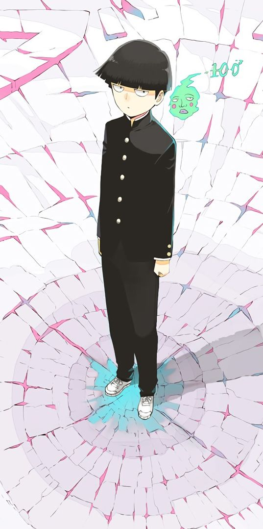 Shigeo Kageyama and Dimple Mob Psycho 100 wallpaper download