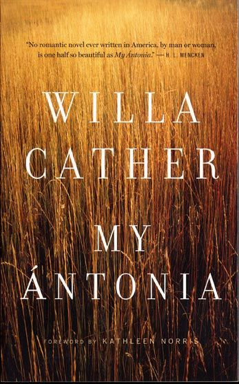 I recently drove through Cather land and saw the countryside that Willa wrote about so eloquently. So I had to reread the book. What lovely prose and tender feelings Cather captured.