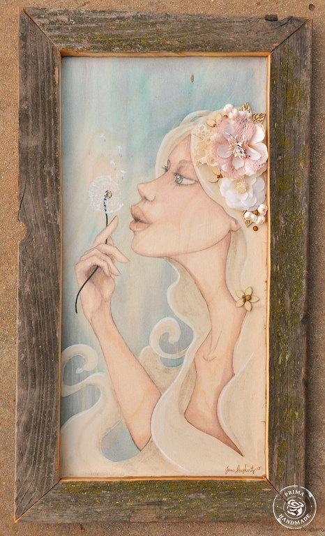 Dreams In The Wind 9x20 Original Bloom Girl Mixed by jaylynnscraps, $175.00