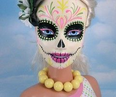 dia de los muertos calavera: Fantasy Makeup, Makeup Inspiration, Skull Barbie, Faces Paintings, Dead Barbie, Sugar Skull, Of The, Dead, Day