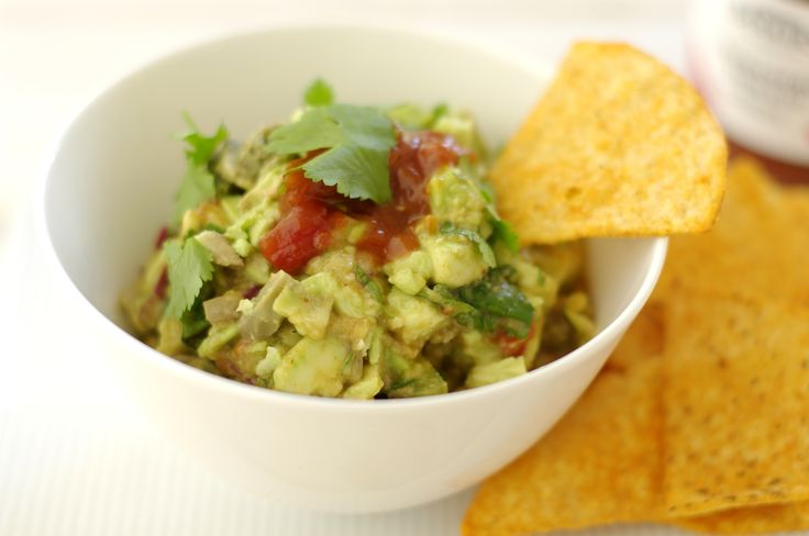 A perfect partner for corn chips or crackers, this is an easy-to-make guacamole featuring Barker's Habanero Tomato Relish. Delicious!