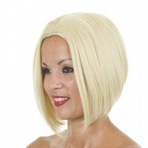 Blonde Inverted Bob Style Wig | Victoria Beckham Hairstyle by Wigs By MissTresses. $39.99. A wonderfully versatile wig that will see you through the day to evening.. Heat friendly fibre. Suitable for styling appliances up to 160°C. Natural in touch & appearance.. Designed in the UK by MissTresses. Celebrity Hairstyle Wigs in Premium Heat Resistant Fibre. Adjustable wefted wig cap for unisex sizing. Fits up to a 23.5 inch [60cm] head.. Express DHL 3-5 day delivery...