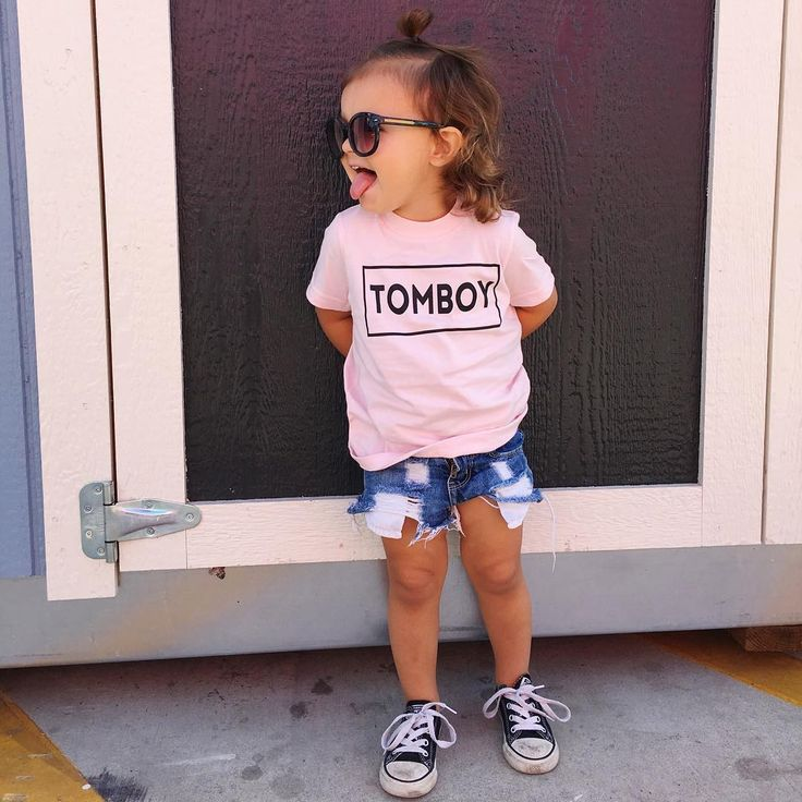 Tomboy // Girl's Graphic Tee - Little Beans Clothing. Baby girl clothing, hipster baby, baby must haves.