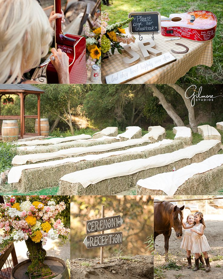 J + J's Country Themed Ranch Wedding ~ Murrieta Photographer, Newport Beach, Wedding, Newborn, and Family Portrait, Photographers in Orange County, Barn, Friesian Horses, Longs Ranch, Carriage, Country Dirt Road, Cowboy and Cowgirl Boots, Fields, Courtyard, Stables, Cream Color Wedding Dress,Fountain, Mint Green Tie, Beige Vest, Blue Jeans, Bridesmaids and Best Man Outfits, Flowers, Bouquets, Guest Book, Guitar, Creative, Vintage, Hay Stacks, Mr and Mrs, Decorations, Cake, GilmoreStudios.com