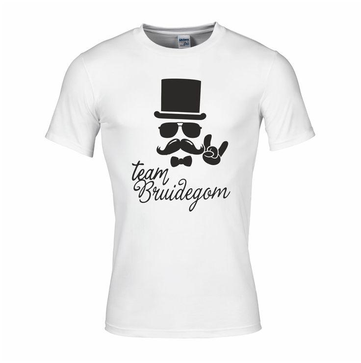 Team bruidegom - vrijgezellenfeest T-shirts - Bestel hier: http://www.digitransfer.info/shop/heren-t-shirt-zware-kwaliteit-vrijgezellenfeesten-2777#2777_2231