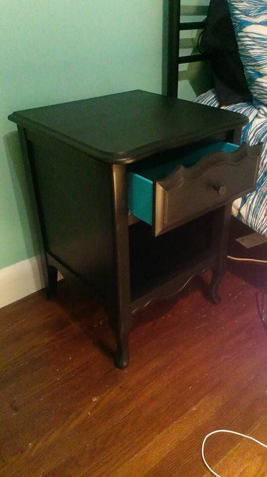 Daughter's newly painted nightstand.