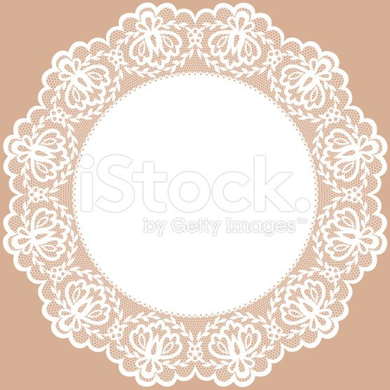 lace doily royalty-free stock vector art