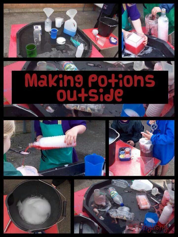 Making potions outside