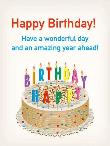150 best cake images on pinterest happy b day congratulations birthday cake colorful candle card m4hsunfo
