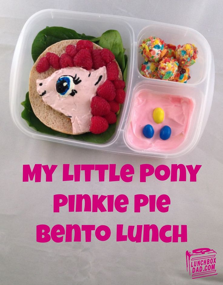 My Little Pony Pinkie Pie Bento Lunch packed in @EasyLunchboxes